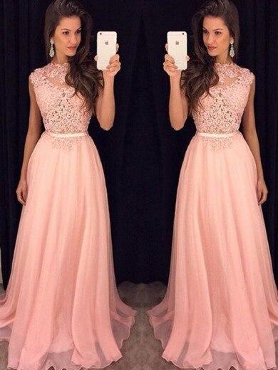 Alexzendra robe de soirée en mousseline de soie rose clair robes de bal personnaliser dentelle corsage longue nouvelle fête robes de grande taille