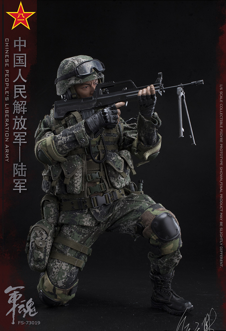 1/6 Scale Chiese People's Liberation Army Soul-Series Army Machine Gunner Military Solider Action Figure Full doll collection 13