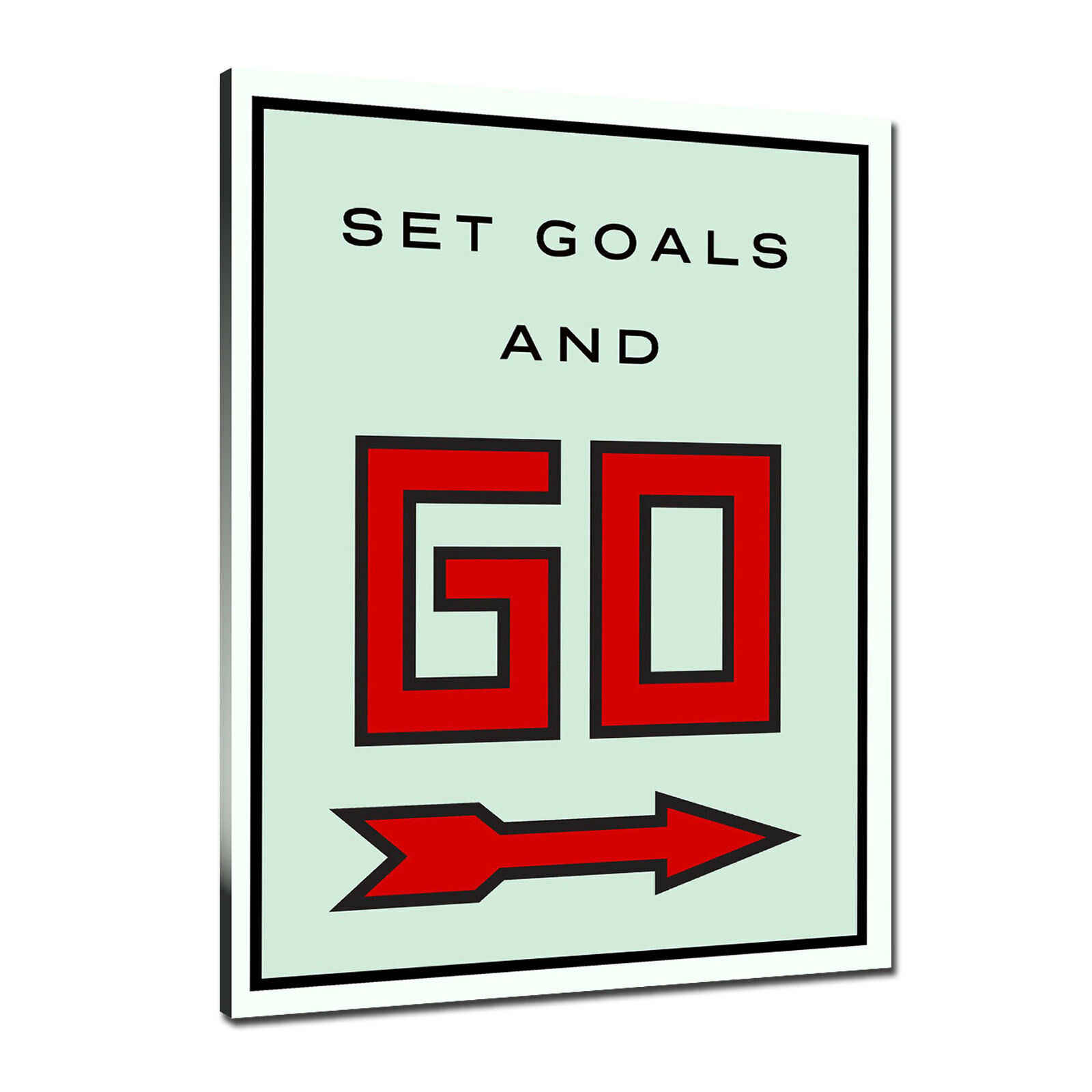 Alec Monopolys Set Goals And Go Abstract Wall Art Oil Painting Poster Canvas Painting Print Pictures for Living Room Home Decor