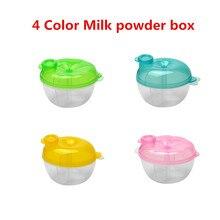 4 шт./партия трехслойная коробка для сухого молока Рисовый Порошок для детей коробка молочная емкость для порошка портативная детская герметичная коробка для сухого молока