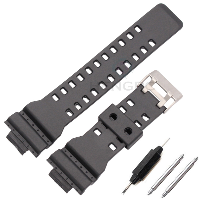 16mm Silicone Rubber Watch Band Strap Fit For Casio G-Shock  Replacement Black Waterproof Watchbands Accessories eache silicone watch band strap replacement watch band can fit for swatch 17mm 19mm men women