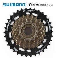 SHIMANO MF-TZ500 7 prędkości rower Freewheel 14-28T 14-34T zębatka 7s stal dla MTB Road rower składany jazda na rowerze rower