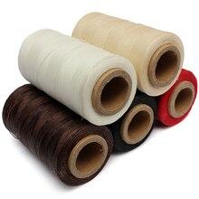 Прочные кожаные вощеные нитки, 240 метров, 1 мм, 150D, шнур для DIY, инструмент для рукоделия, ручная строчка, разные цвета