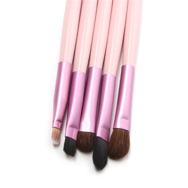 New hot 5Pcs/lot Professional Beauty Brushes Set Makeup Brushes Tools golden black pink Makeup Brushes Kits