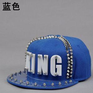 Image 3 - Casquette en acrylique, clous à rivets, KING, Punk, hip hop, Street, pour femmes et hommes