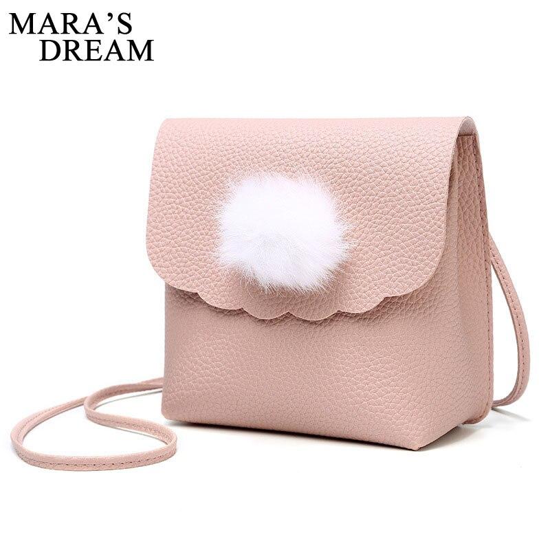 Mara мечта 2018 бренд PU Курьерские сумки Мини Для женщин сумка Твердые Мех животных модный бренд плеча Сумки Crossbody flap Сумки