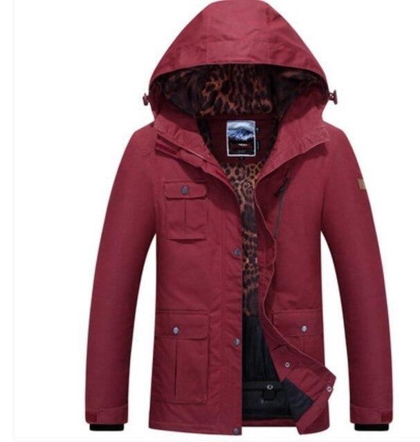 Veste d'hiver rouge femme