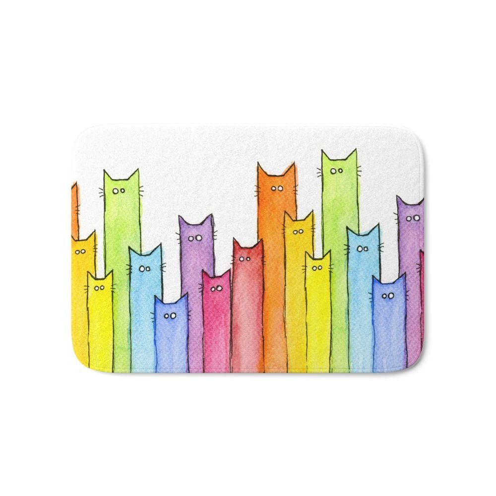 Rainbow Of Cats Funny Whimsical Colorful Cat Animals Bath