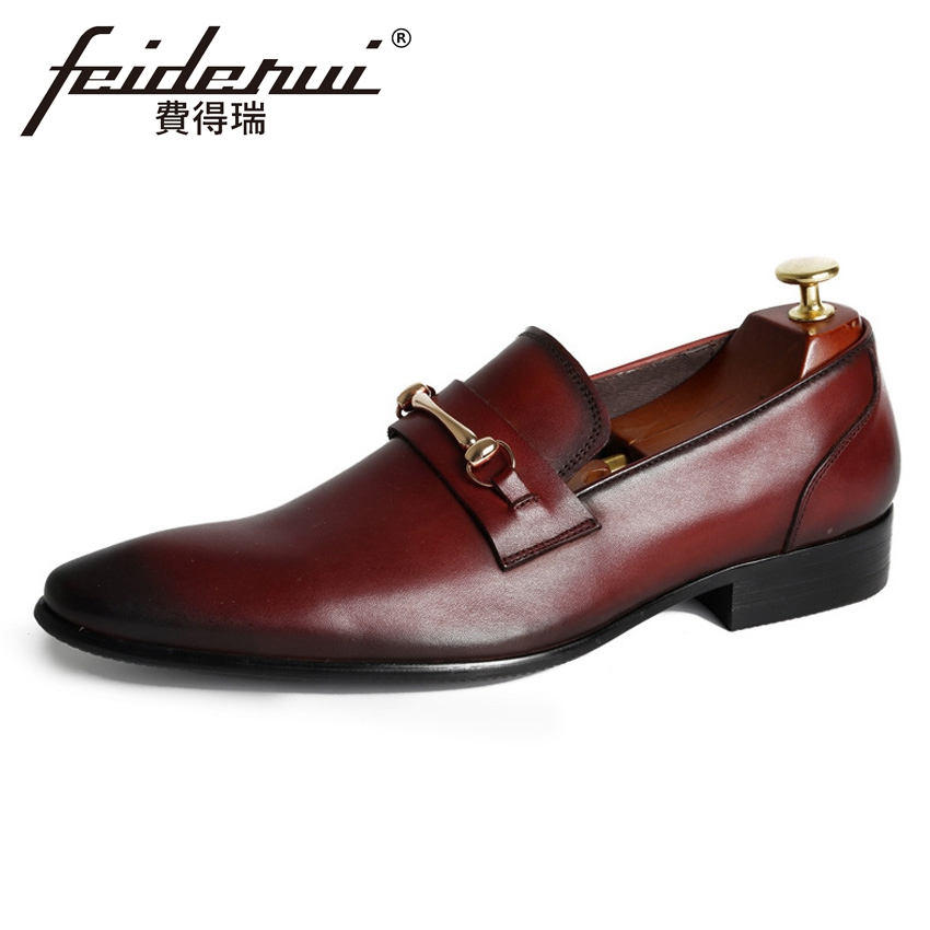 New Italian Designer Genuine Leather Men's Height Increasing Loafers Fashion Pointed Toe Slip on Man Wedding Casual Shoes YMX469 high end breathable men casual shoes loafers genuine leather lace up rubber handmade slip on sewing lazy shoes italian designer