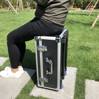 20 inch pull rod toolbox Hardware tool Aluminum alloy box Photography equipment Shock proof and moisture proof protection case