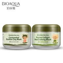 2 шт BIOAQUA газированная пузырчатая глина и питательный Коллаген маска для лица эластичный уход за кожей осветляющая влажная маска для ухода за кожей лица