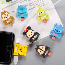 Cartoon Cute Splitter For iPhone 8 pin  to double Female Aux Earphone Adapter Audio + Charging Data Connectors