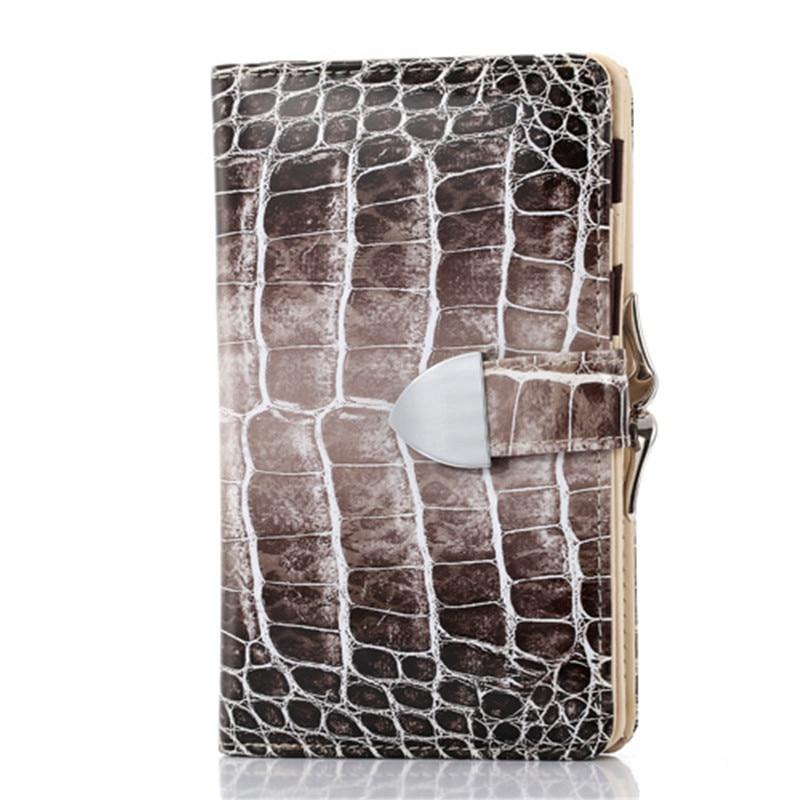 Fashion Enamel Leather Wallet Serpentine Women
