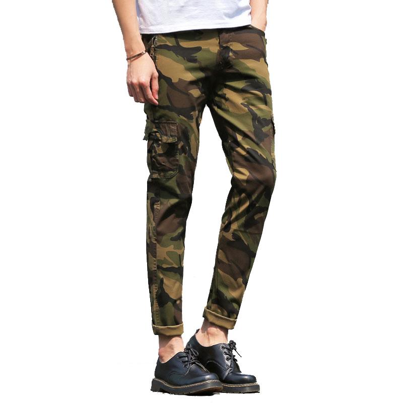 Cargo-Pants Camouflage Trousers Men's Cotton Casual Fashion New Autumn Tooling European-Size