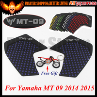 For Yamaha MT 09 MT 09 MT09 Motorcycle 3M Tank Traction Pad Side Gas Knee Grip Protector Anti slip sticker