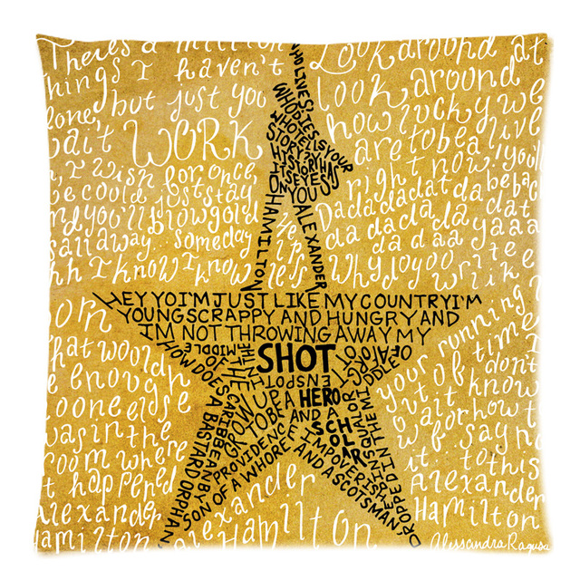 Hamilton Broadway Musicale Decorativo Cuscino Cotone Lino Divano Throw Pillow Ca