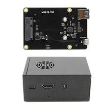 X850 V3.0 mSATA SSD GPIO Micro USB de placa + caso para Raspberry Pi 3 B +