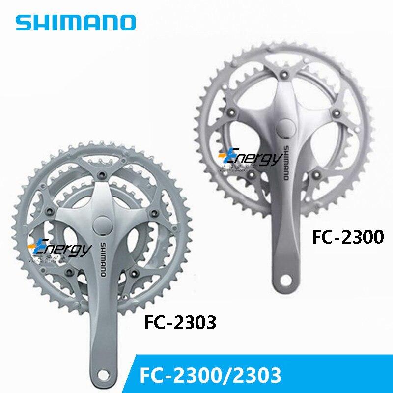 SHIMANO 2300/2303 39-52 T/30-42-52 route vélo pliant vélo pédalier manivelle 2 vitesse vélo pièces Vélo Manivelle Pédalier