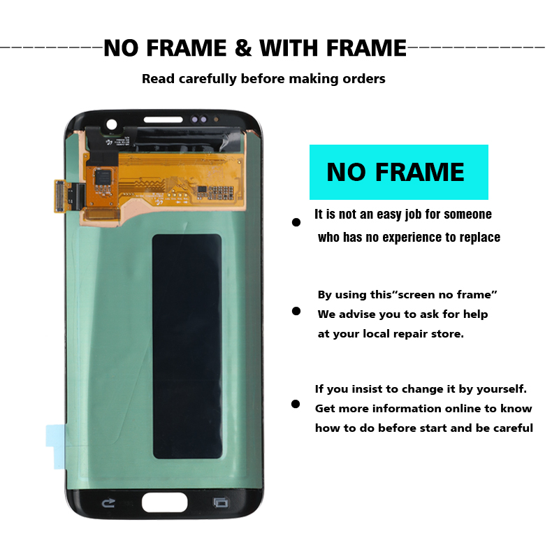 HTB1GbiTL4TpK1RjSZFMq6zG VXae ORIGINAL 5.5'' Display with the Burn-Shadow LCD with Frame for SAMSUNG Galaxy S7 edge G935 G935F Touch Screen Digitizer Assembly