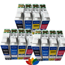 12PK 16 16XL ink cartridge for epson Workforce WF-2010W WF-2510WF WF-2520 WF-2530WF WF-2540 printer T1631 -T1634 T1621 цена