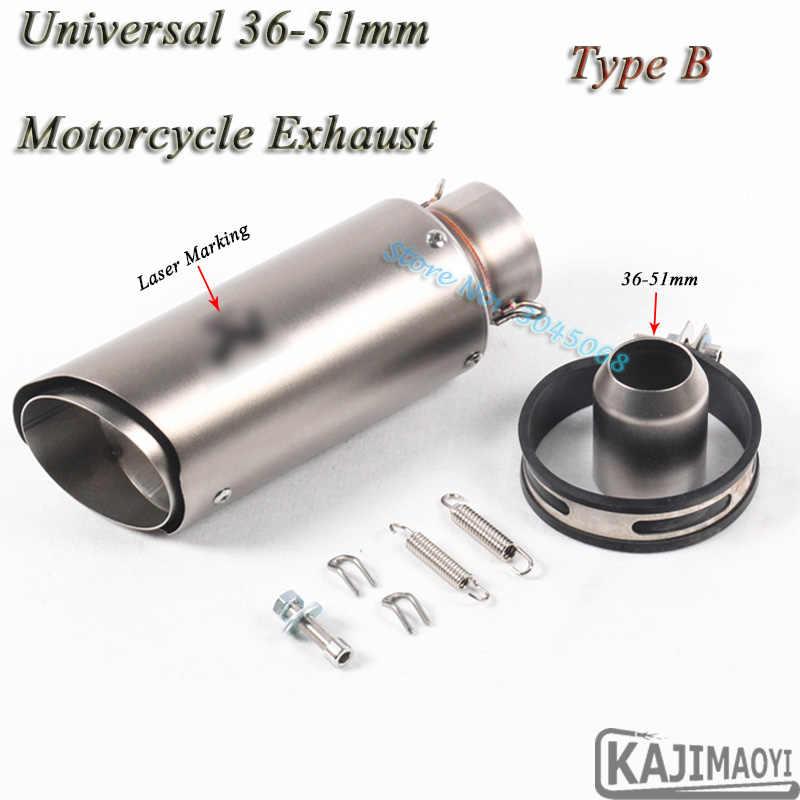 51mm 61mm de 250mm tubo de Escape modificado Universal moto láser Silenciador para ATV S1000RR ER6N CBR1000RR r6 R1