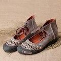 Весной И Летом 2017 Мода Мокасины Женщины Вырез Ручной Работы Обувь Женщина Натуральная Кожа Мягкие Случайные Плоские Ботинки Женщин Квартир