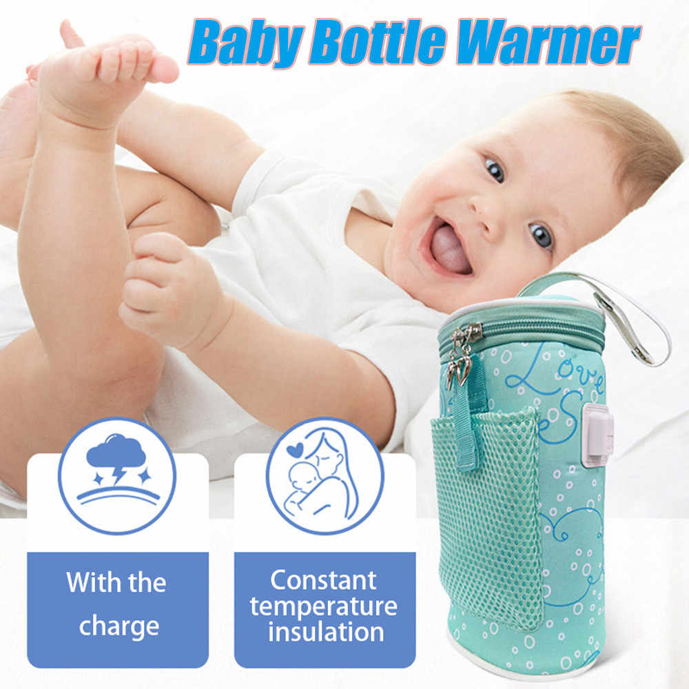 Portable USB Baby Bottle Warmer Heater Insulated Bag Milk Travel Cup Warmer Heater Infant Feeding Bottle Bag Storage Cover