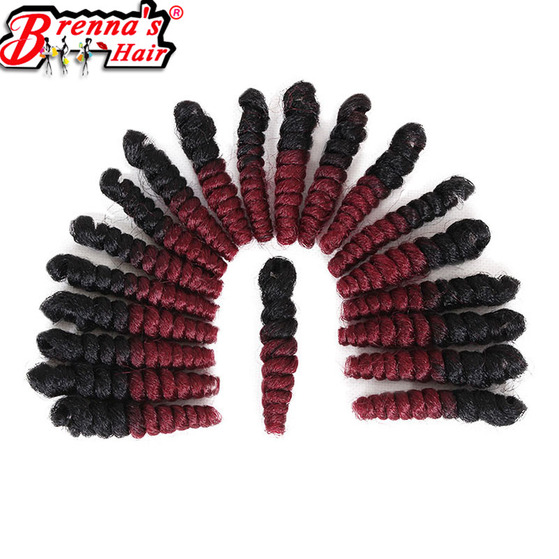 Ombre gray/brown/burgundy 10 20 inch kanekalon Eunice braiding hair extension small curl Synthetic crochet braids 20strands/pc