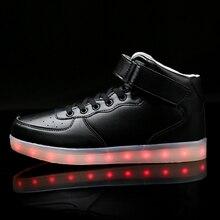 Children Hook Loop Fashion Luminous Shoes