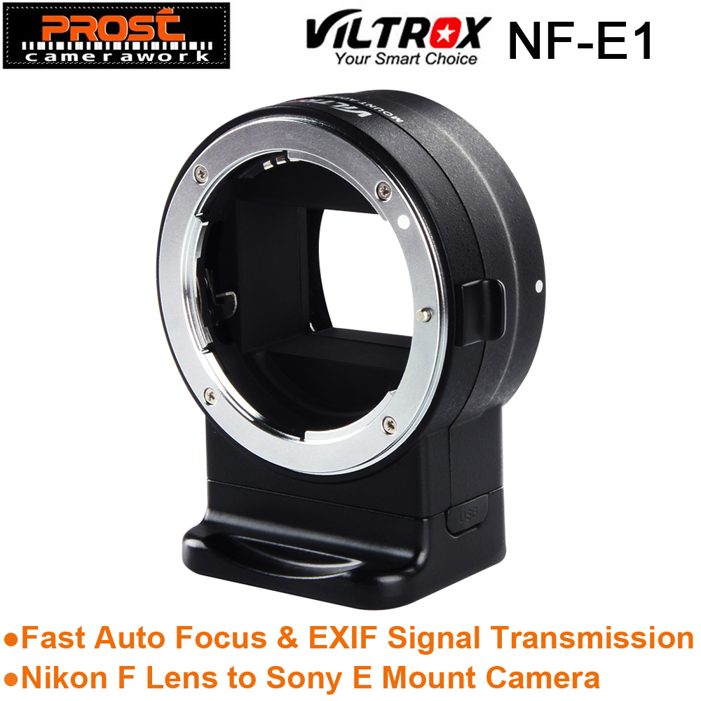Viltrox NF-E1 AF Auto Focus EXIF Signal Lens Adapter Ring Tube For Nikon F lens to Sony E mount A9 A7III A6500 A6000 DSLR Camera viltrox ef nex iv auto focus adapter mount for canon ef lenses to use on sony full frame a9 a7r camera e mount a6500 a6300 a7rii