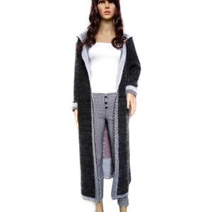 Image 3 - Women Autumn Long Mink Cashmere Sweater Cardigan Female Mohair Knitting Coat   High Quality