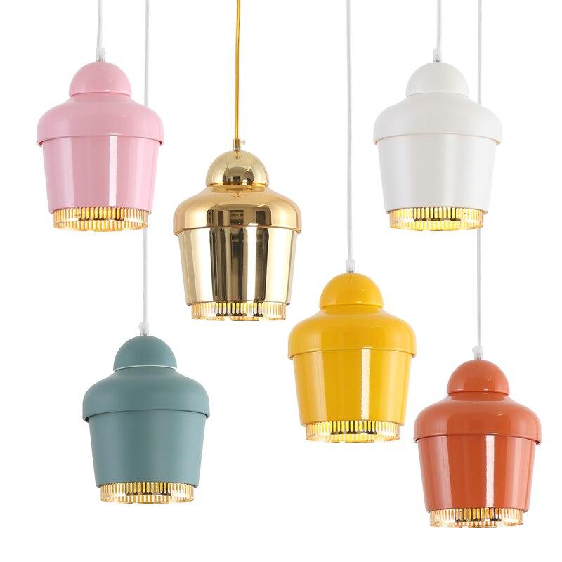 Modern Pendant Light Loft Kitchen Design Bell Lamp Iron Simple Style E27 220V For Decor Home Lighting