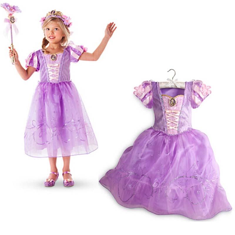 Vestidos para niñas 2018 Moda Sofia Cinderella Rapunzel Belle - Ropa de ninos - foto 5