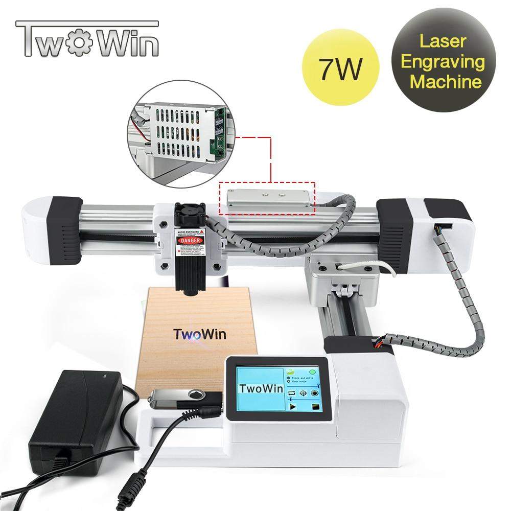 TwoWin 7W USB Offline Laser Engraver DIY Logo Mark Printer CNC Engraving Carving Machine Carving Wood Tools