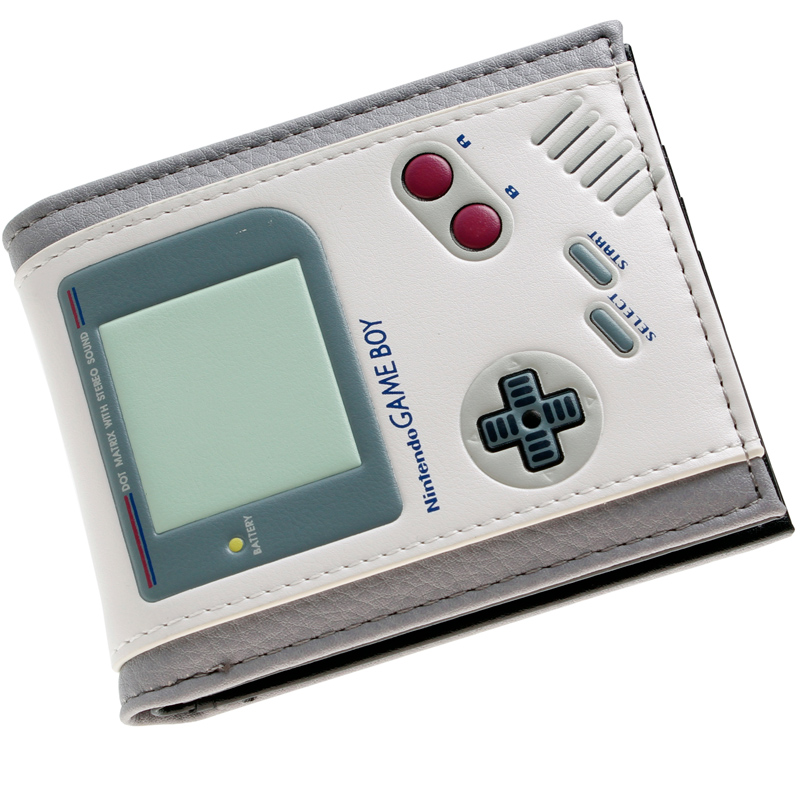nintendo Game Boy white Bi - a Fold Wallet DFT-1510 5 pcs lot cartoon anime wallet wholesale nintendo game pocket monster charizard pikachu wallet poke wallet pokemon go billetera