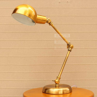 A1 Creative American fashion retro rocker arm table lamp bronze bedroom bedside study hotel direct manufacturers FG359