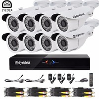Eyedea 8CH Remote View Phone APP DVR 36pcs LED Bullet 1080P 2 0MP White Waterproof Night