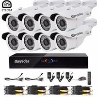 Eyedea 8CH Remote View Phone APP DVR 36pcs LED Bullet 1080P 2 0MP White Waterproof Night