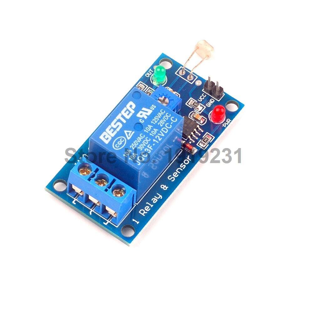 1pcs 12v Photosensitive Sensor Module 1 Channel Relay Light Switch Hs Code