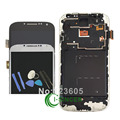 Для Samsung 9500 9505 Для Galaxy S4 ЖК-Дисплей С Сенсорным Экраном Дигитайзер Ассамблеи С Рамкой Замена Белый/Черный/Синий + инструменты