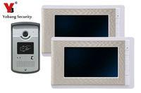 7 Inch Video Door Phone Intercome Doorbell Home Entry Intercom System Kit 2 Monitors 1 Camera