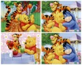 1pcs Paper Jigsaw Puzzles For Children Kids Toys Bear Edward Mr Sanders Toys For Children Baby Eduional