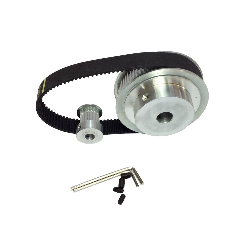 HTD 3M 50T 25T Belt Width 15mm Timing Pulley Belt set kit Reduction Ratio 2:1 Center distance 81mm все цены