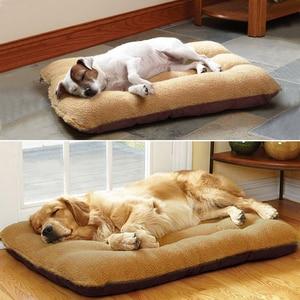 Image 2 - 大型犬のベッド暖かいペット子犬ハウスクッションソフト小屋の巣ソファマット毛布中大犬ゴールデンレトリバーラブラドールビッグ