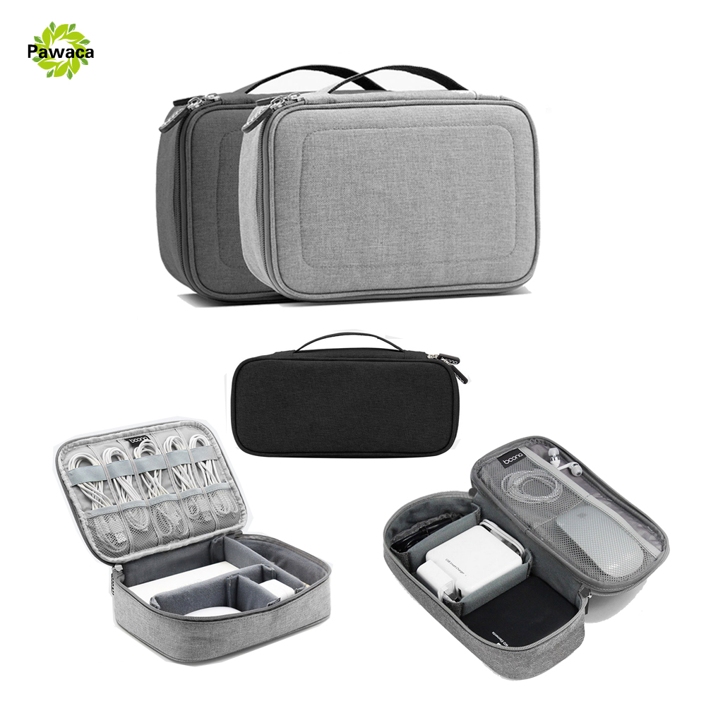 Portable Travel Organizer Bags Earphone Cable Earbuds Storage Bag Oxford Hard Organizador Case Multifunction Carrying Card bags