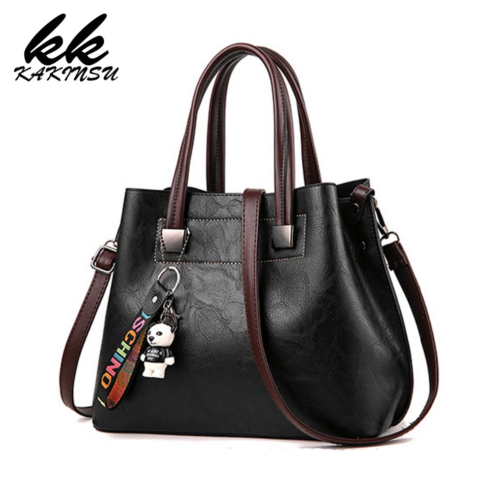 2018 Fashion PU Leather Tote Women Bag New Famous Ladies Handbags Elegant Autumn Women Shoulder Bags Bolsa Feminina Preta bolsa feminina preta fashion pu leather women bag designer handbags high quality ladies bags famous shoulder bag new sac