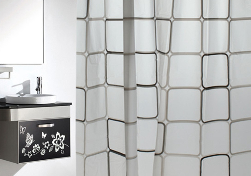 Checkered Shower Curtain Promotion-Shop for Promotional Checkered ...