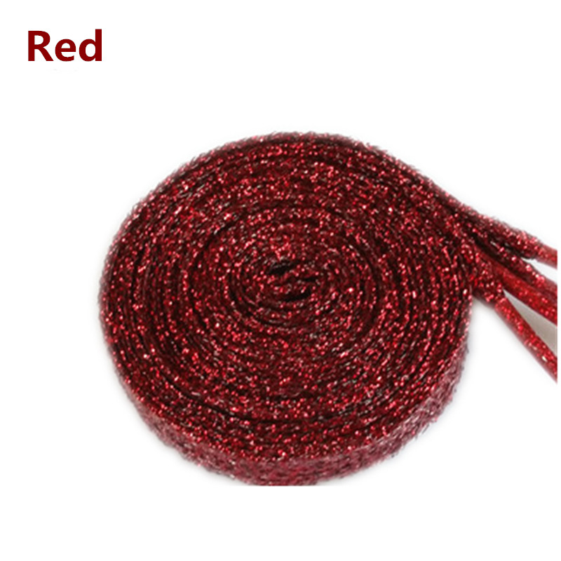 100 pairs Shoelaces Shiny Gold and Silver thread Sport Sneakers Flat Shoelaces Bootlaces Shoe laces Strings