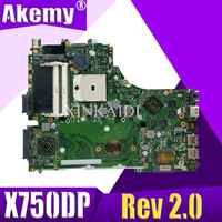 X550DP LVDS Für ASUS X750DP K550D X550D X550DP laptop motherboard X750DP Rev2.0 mainboard 100% getestet arbeits