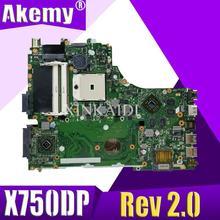 X550DP LVDS dla ASUS X750DP K550D X550D X550DP laptopa płyty głównej płyta główna w X750DP Rev2.0 płyty głównej płyta główna 100% testowane pracy